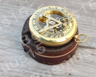 Compass, Sundial Compass, Personalized Compass, Wedding Gift, Mens Gift, Corporate Gift, Nautical Compass, Custom Compass, Groomsmen Gift