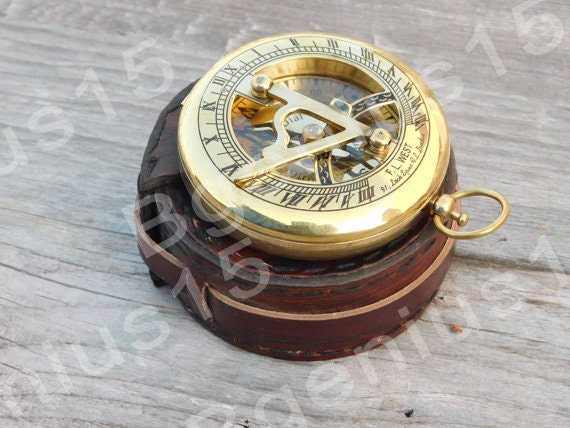 3 Inch Sundial Antique Compass Pocket Compass Steampunk