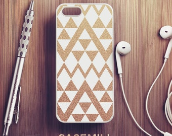 Gold Chevron iPhone 6 Case White iPhone 6s Case iPhone 6 Plus Case iPhone 6s Plus Case iPhone 5s Case iPhone 5 Case iPhone 5c Case
