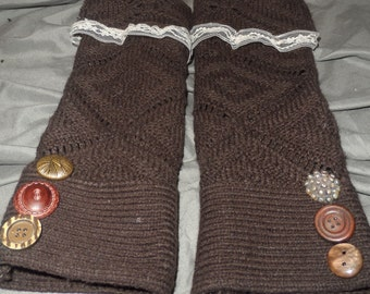 Brown sweater Arm Warmers