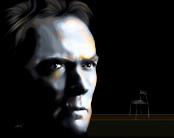 Clint Eastwood Empty Chair...gallery wrapped canvas or luster paper print