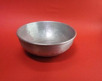 Vintage Metal food bowl , Military utensils, Cutlery military. Military Aluminum bowl.