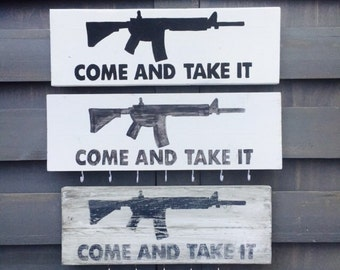 Come and Take It Distressed Pallet Wood Sign; Wall Hanging; Pallet Wall Decor; Boyfriend Gift