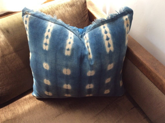 Handmade Mali Indigo Mud Cloth Pillow.  *1