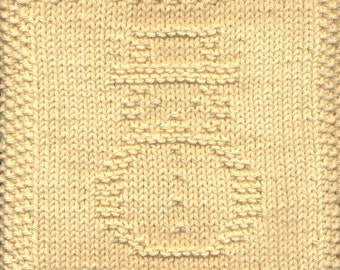 Snowman Knit Dishcloth Pattern Only *PDF Digital Download*