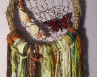 Hand Woven Palm Branch Dream Catcher