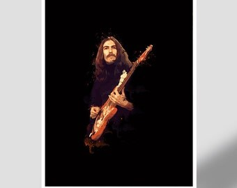George Harrison - Guitar Legend - The Beatles, john, paul, ringo, rock and roll, music poster, gift, icon, guitarist, songwriter, 70's, 80's