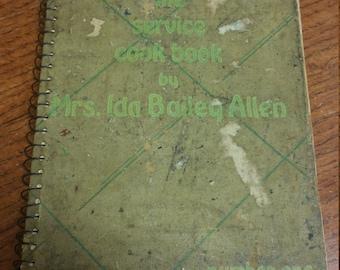 1933 The Service Cookbook by Mrs. Ida Bailey Allen