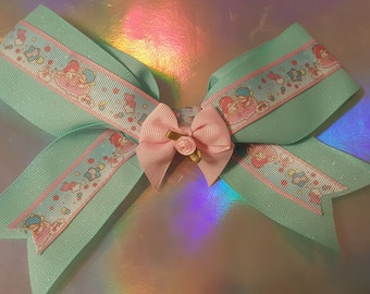 Kawaii Blue GIitter Hairbow
