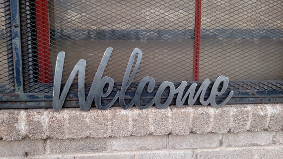 SALEWelcome metal sign for home decor wall signs gifts