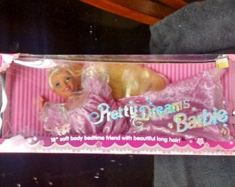 "Mattel Pretty Dreams Barbie 18"" soft body doll"