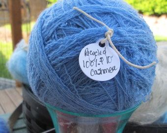 Recycled 100% Cashmere Yarn - Two color choices