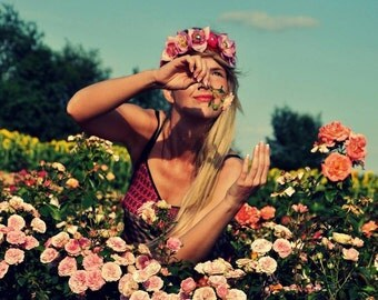 Flower crown by Takta, pink headband