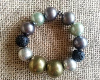 Essential oil diffuser bracelet, Precious Metals