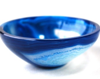 Beautiful Blue Onyx 5cm Crystal Bowl