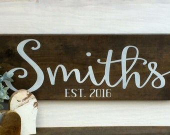 Family name sign, family established sign, rustic wooden sign, last name sign, personalized family sign, rustic home decor, rustic sign