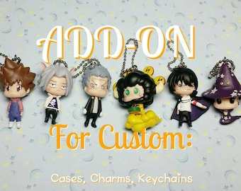 ADD ON Hitman Reborn Kawaii Menhera Halloween Cosplay Figure for Custom Case / Charm / Keychain