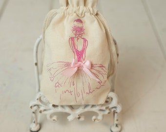 Ballerina Favor Bag - Ballet - Girl Ballerina - Birthday Party - Decorations - Ballet Event - Dance - Dancing - Tutu - Customized - Slippers