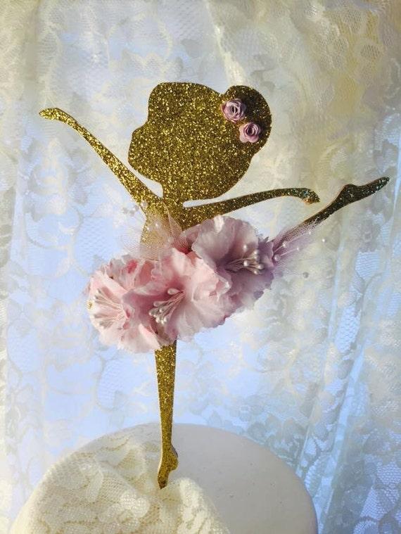 Ballerina Party Cake Topper 6 Ballerina by MemoryKeepsakeParty