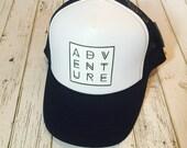 Adventure, trucker hat, snapback, hat, mens hat, womens hat, mens fashion, womens fashion, adventure fashion, cool hat