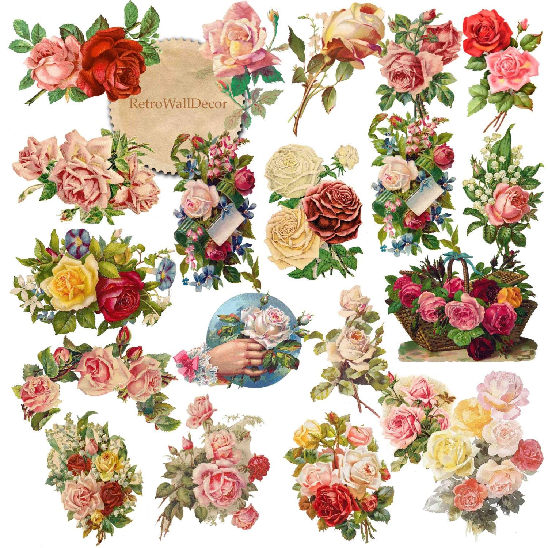Roses Clipart Rose Clip Art Valentine Rose Antique Roses