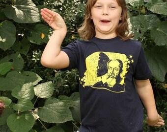 Galileo Youth Tee, T-shirt, astronomy, physics, renaissance, moon, quote shirt, stars, telescope, nerd, science, STEM, boy, girl, kids child