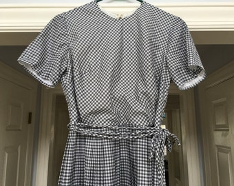 Vintage Ginham Dress in Black and White