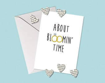 About Bloomin' Time Wedding/Engagement Card