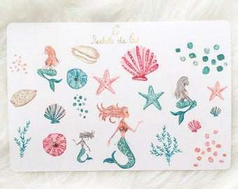 Always Be A Mermaid Decorative Planner Stickers