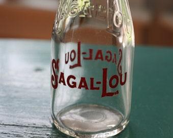 Glass Milk Bottle -Sagal-Lou Milk Bottle -10 oz. Glass Milk Bottle -
