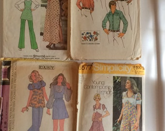 Lot of 7 pattern collection for the 1970s.