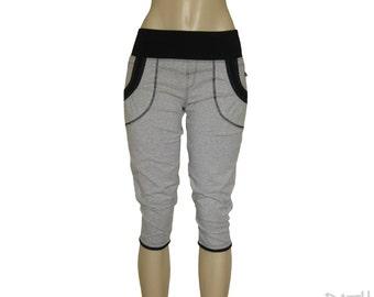 "Capri ""Comfy"", Capri pants with pockets, knee pants, cropped sport pants."