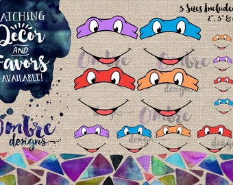 Ninja Turtle Masks, TMNT, Mask, Ninja Turtle Decorations, Ninja Turtle Decor, TMNT Party, Ninja Turtle Birthday, Ninja Turtles Party, Favor