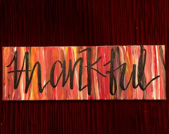 Thanks Collection: Thankful Canvas