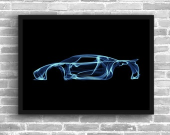 Koenigsegg Agera Art Wall Art Supercar Man Cave Gift For Him Automotive Art Koenigsegg Art Car Art Home Decor Koenigsegg Décor