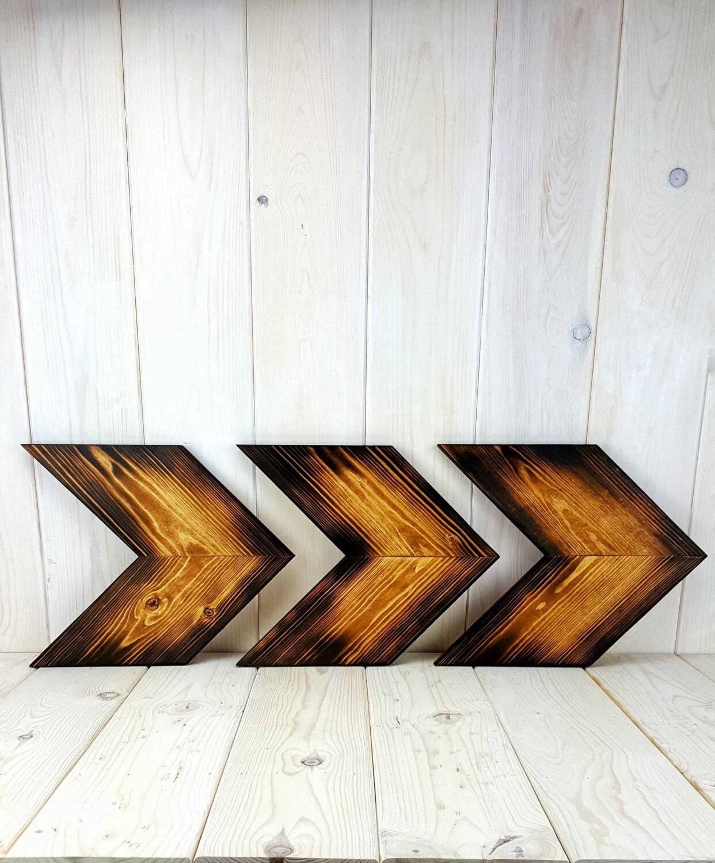 Chevron Wood Wall Decor : Wood chevron arrow rustic wall art decor shabby chic