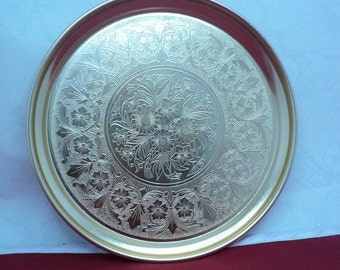 Vintage Soviet Aluminum Plate Soviet Vintage Aluminum Bowl Vintage Home Decor