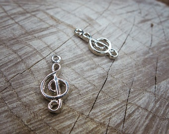 Treble Clef Charms ~2 pieces #100665
