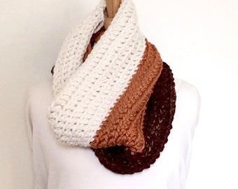 Chunky Knit Cowl, Chunky Knit Scarf, Chunky Scarf, Hooded Scarf, Winter Accessories, Gift for Her, Christmas in July, CIJ, ChristmasinJuly
