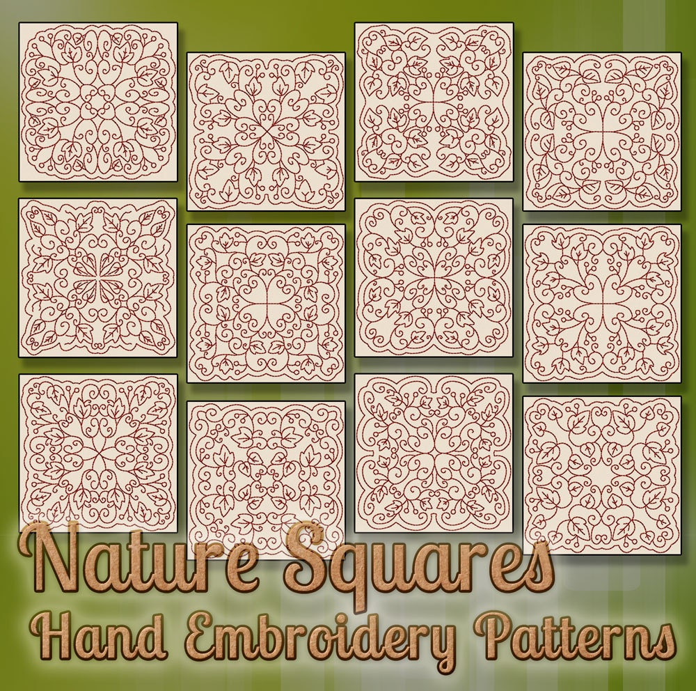 Sale hand embroidery patterns redwork designs nature