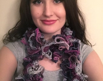 Crochted Curly Scarf