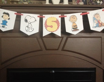 Peanuts, Snoopy, Charlie Brown Birthday Party Mini Banner