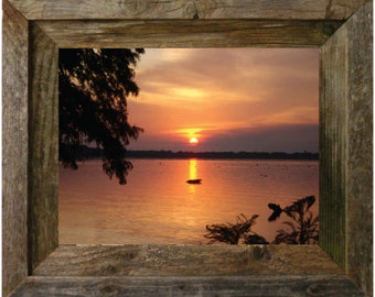 "REELFOOT LAKE (in a 14"" x 11"" barn wood frame) FREE Shipping!"