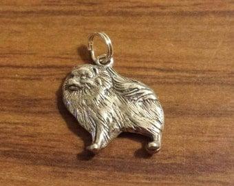 Sterling Silver Pomeranian Dog Charm by H&H