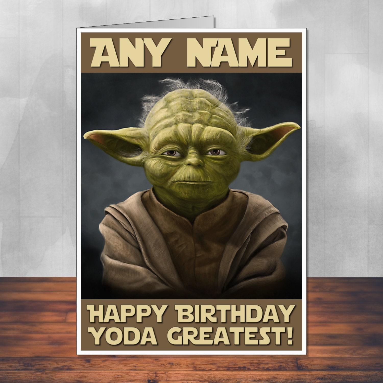 Star Wars Birthday Card: Yoda Fan Art. 5x7 By MartynAndWells