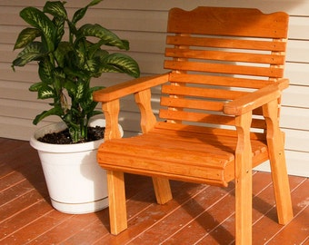 Amish Heavy Duty 600 Lb Classic Pressure Treated Patio Chair