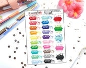25 Lazy Day Couch Planner Stickers | Great for any planner