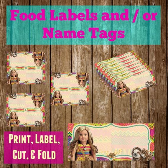 Lea Clark American Girl Doll Printable Labels