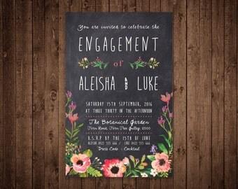 Engagement Invitation - Custom Digital File