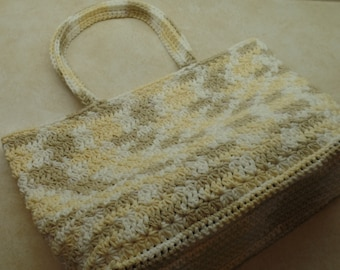 Crochet Star Stitch Summer Bag Pattern 100% Cotton DIGITAL DOWNLOAD ONLY